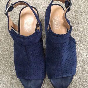 Franco Sarto Shoes - Franco sarto heels. Suede upper (dark blue)
